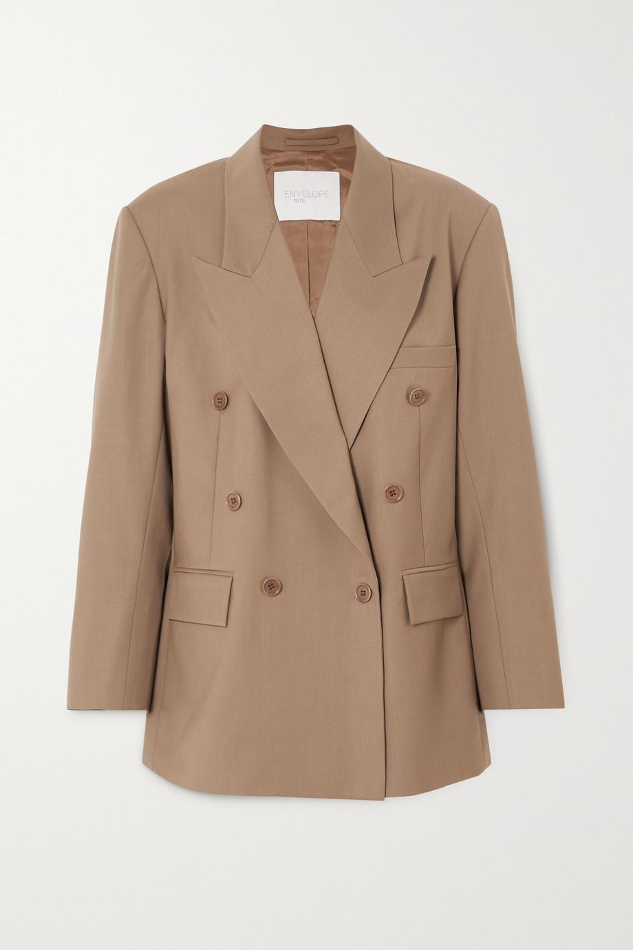 Envelope1976 Girona oversized double-breasted wool-crepe blazer