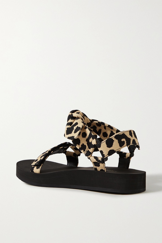 Loeffler Randall Maisie Sandalen aus Canvas mit Leopardenprint und Schleife