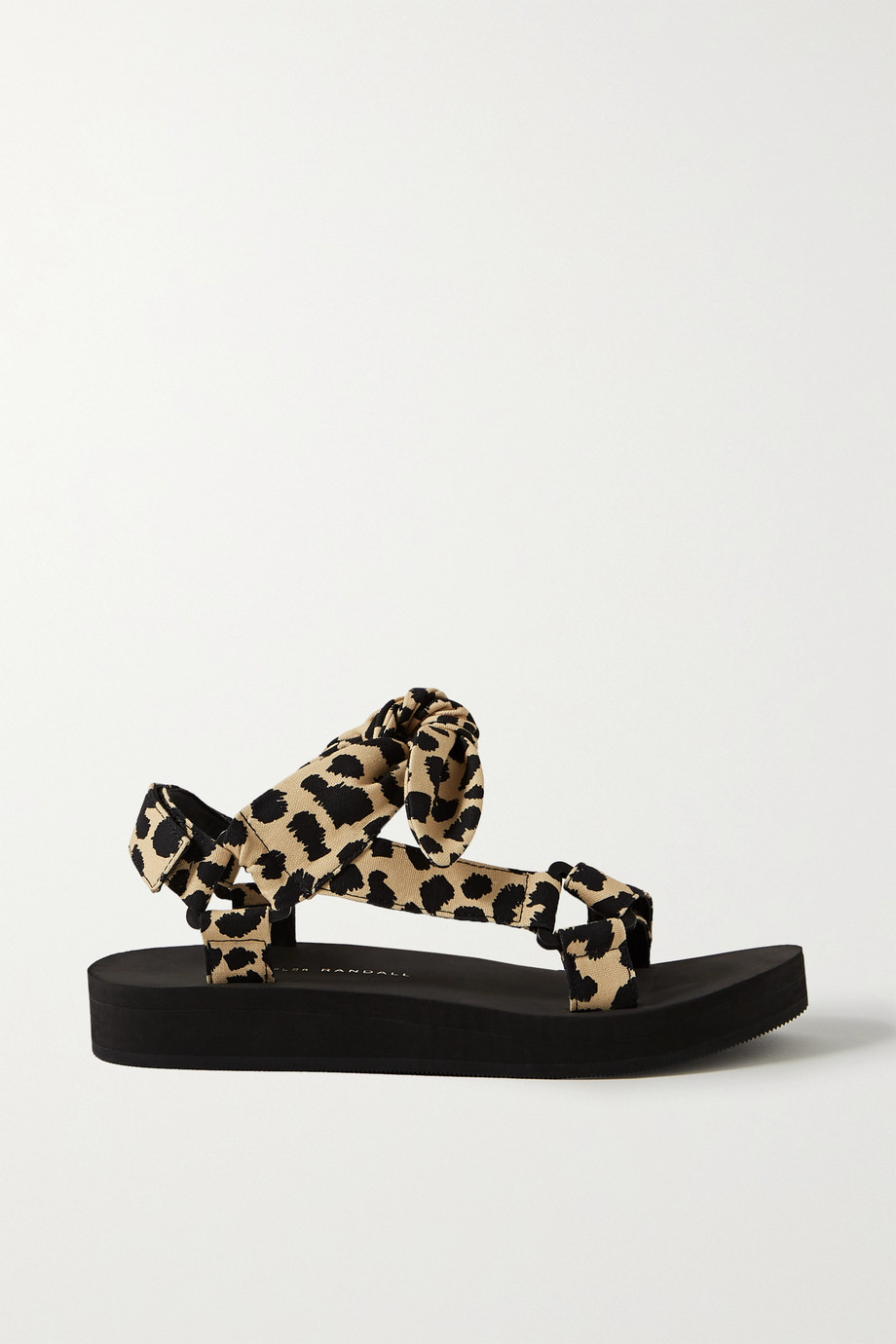 Loeffler Randall Maisie bow-embellished leopard-print canvas sandals