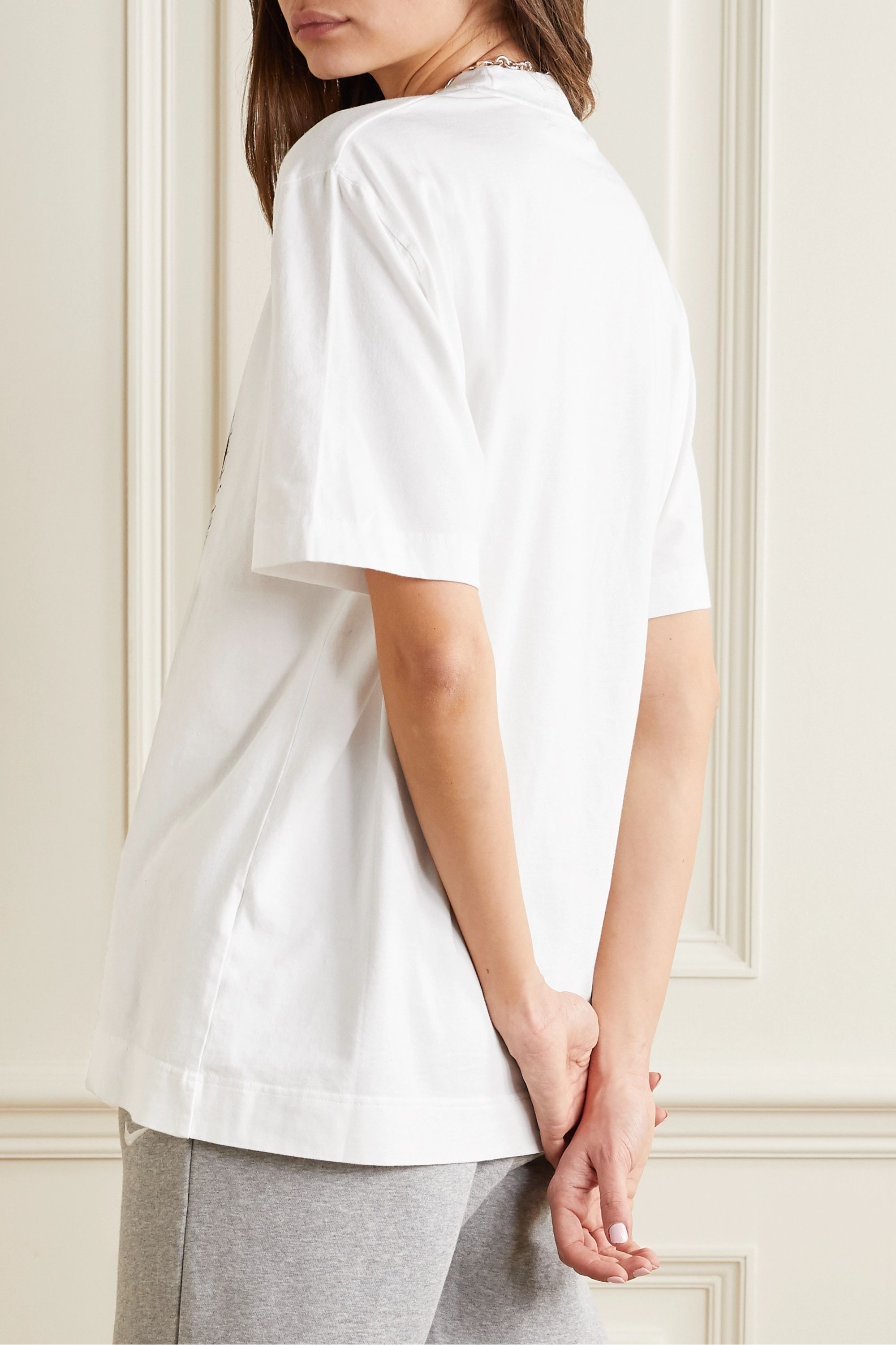House of Holland Oversized printed cotton-jersey T-shirt
