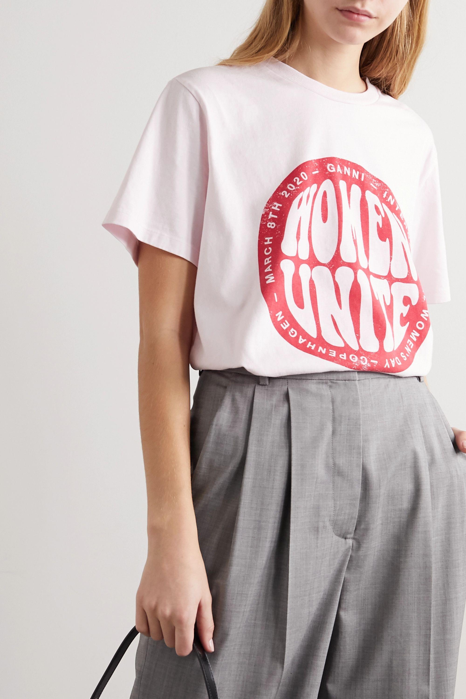 GANNI International Women's Day printed cotton-jersey T-shirt