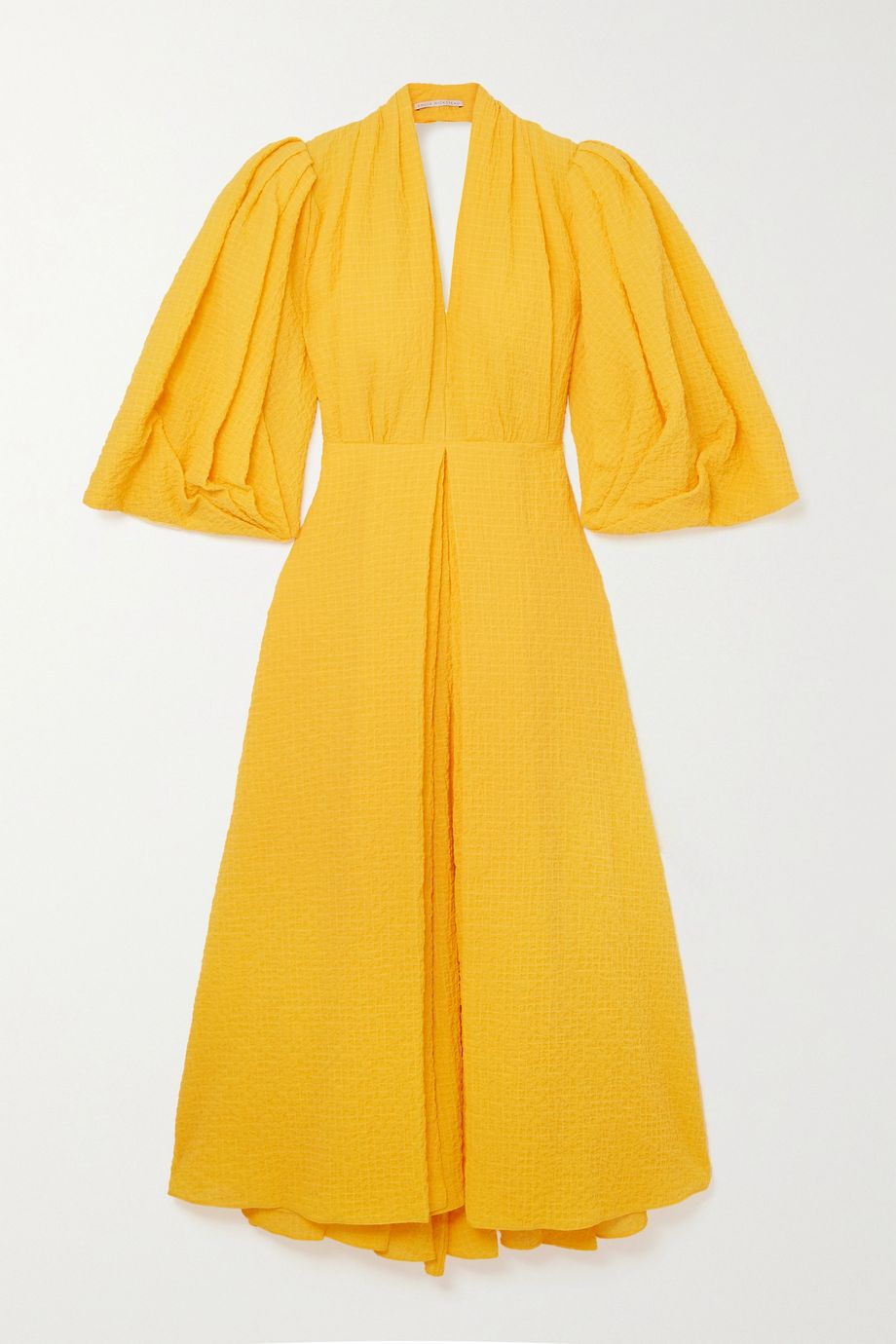 Emilia Wickstead Deva open-back gathered cotton-blend cloqué midi dress
