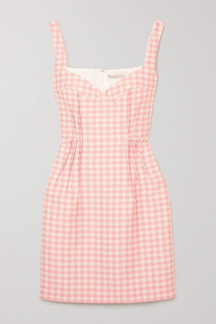 Emilia Wickstead | Jude gingham cloqué mini dress  | NET-A-PORTER.COM