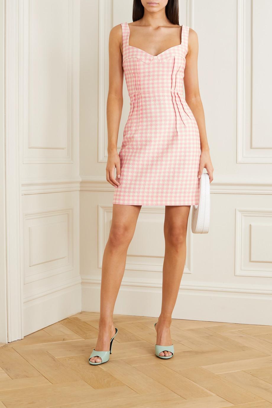 Emilia Wickstead Jude gingham cloqué mini dress