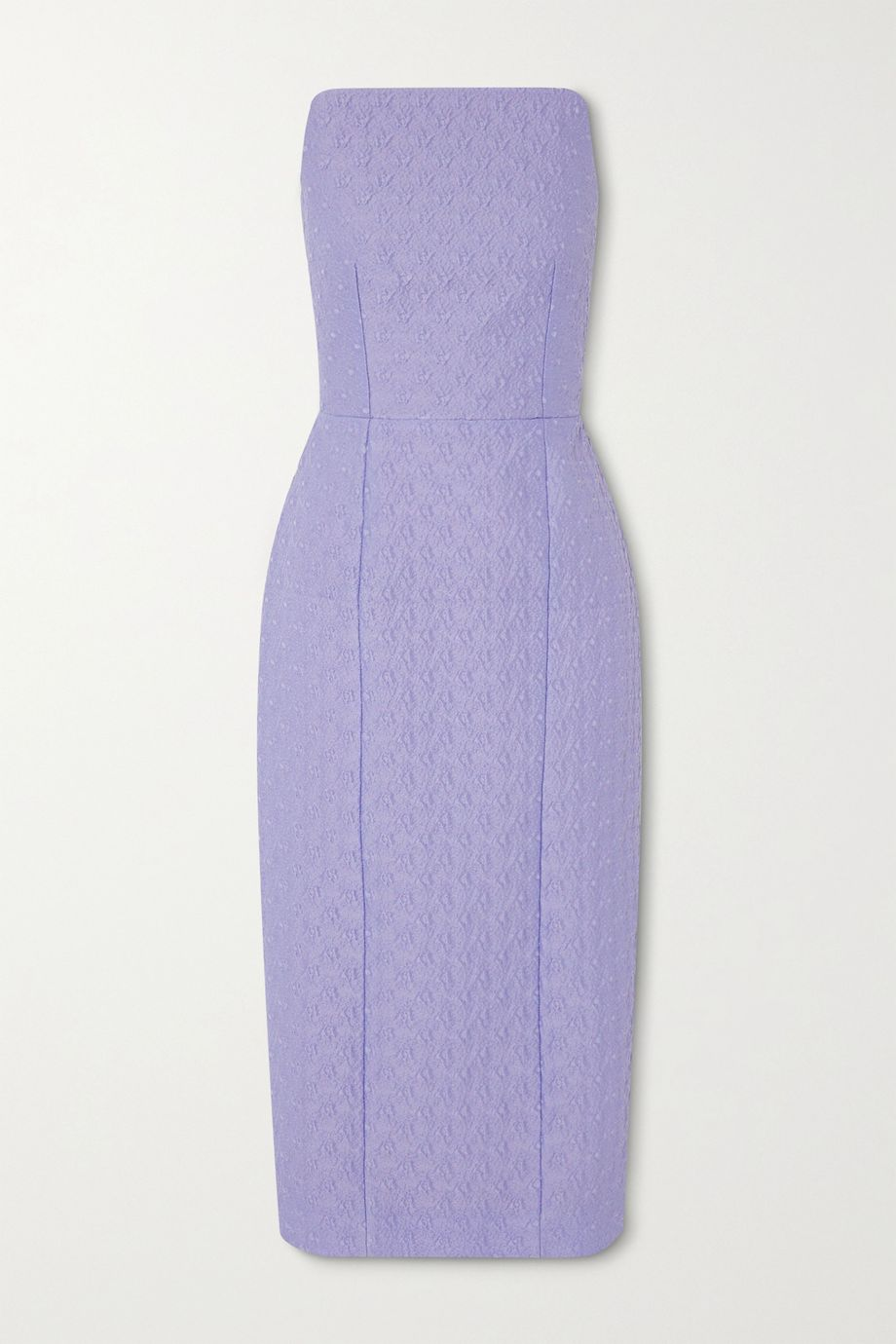 Emilia Wickstead Novia strapless jacquard midi dress
