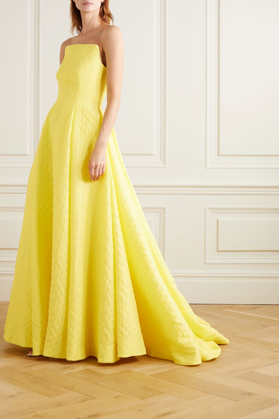 Emilia Wickstead Abigail strapless cloqué gown