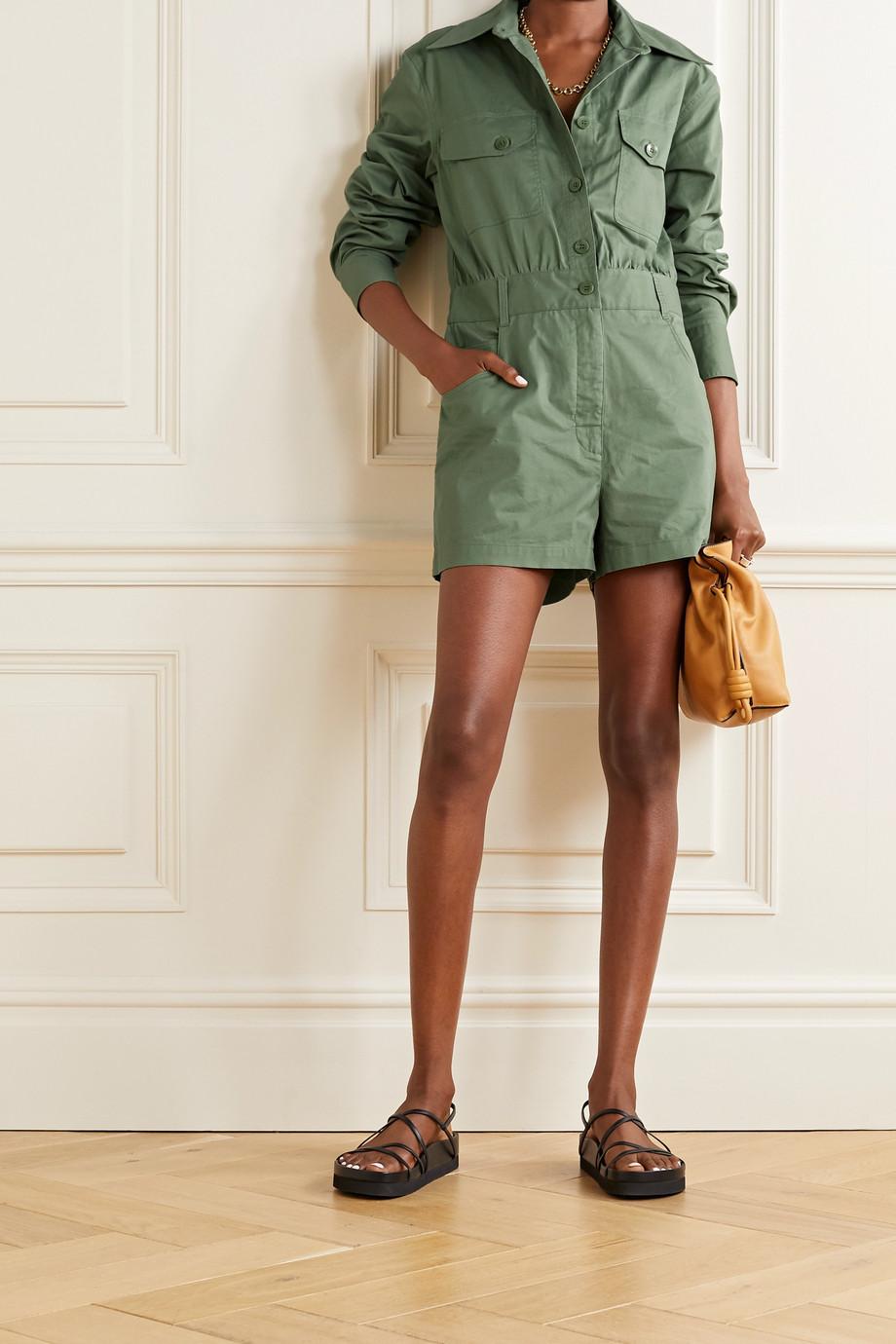 Tibi 纯棉斜纹布连身短裤