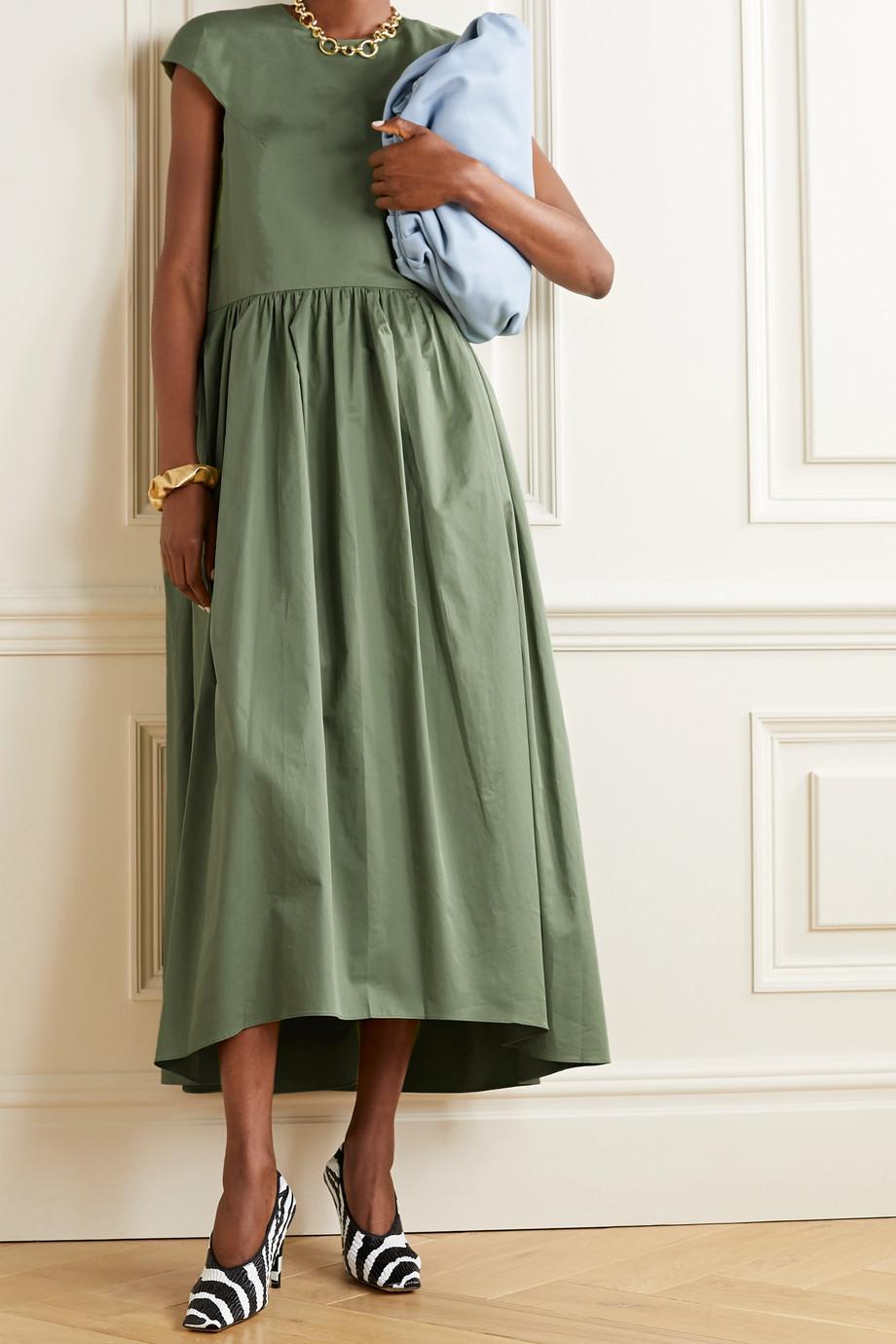 Tibi 有机纯棉府绸中长连衣裙