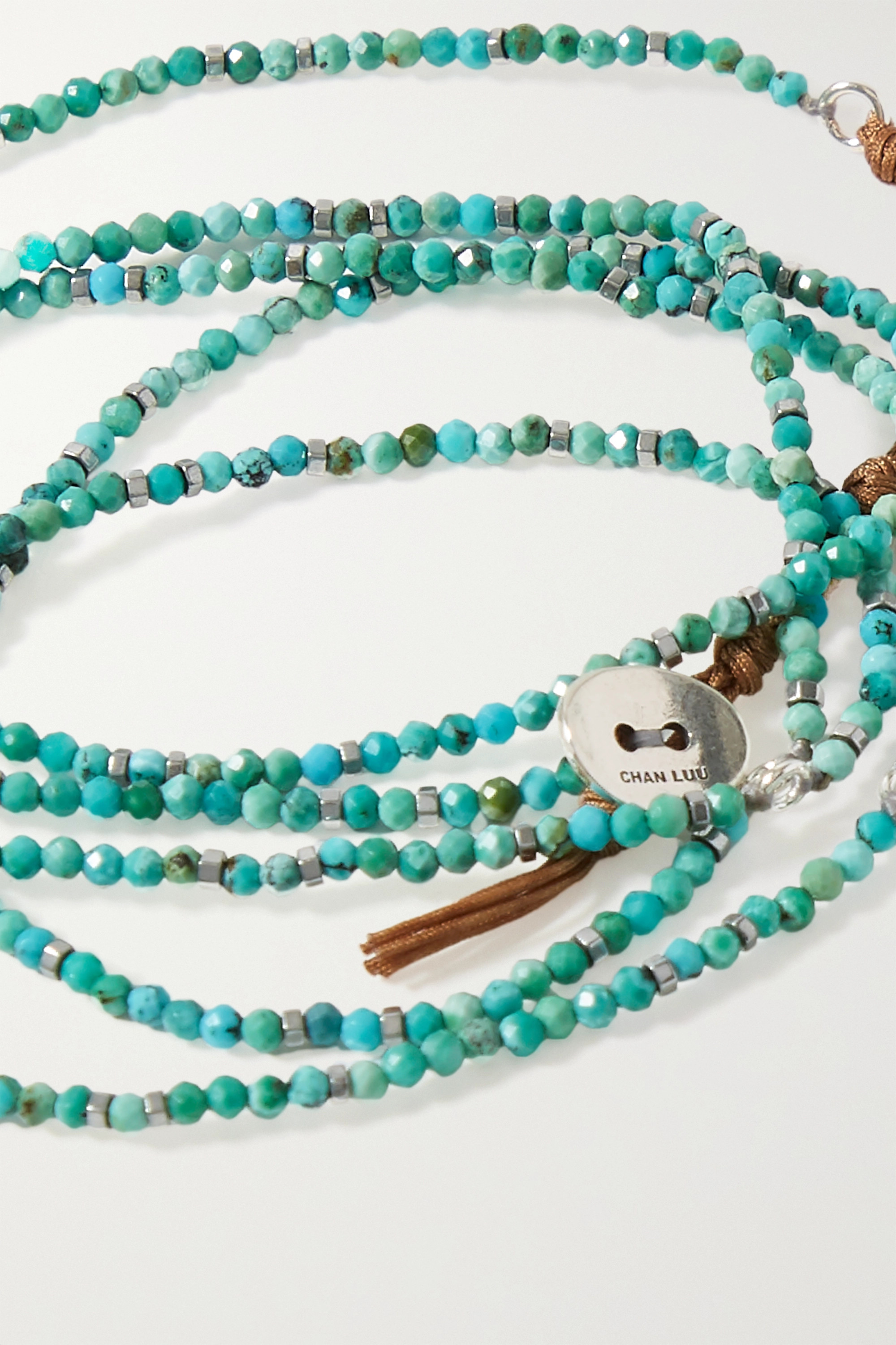 Chan Luu Turquoise and silver bracelet