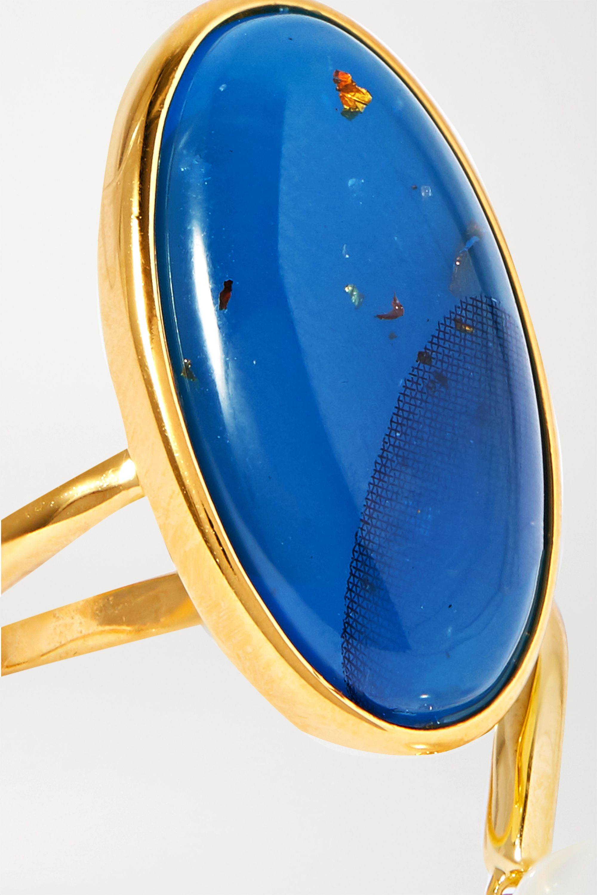 Ejing Zhang Geo 树脂、珍珠、镀金戒指