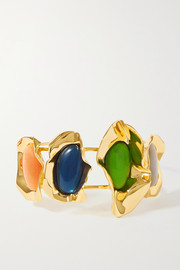 Ejing Zhang Effie gold-plated and resin cuff