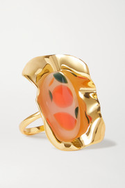 Ejing Zhang Effie gold-plated and resin ring