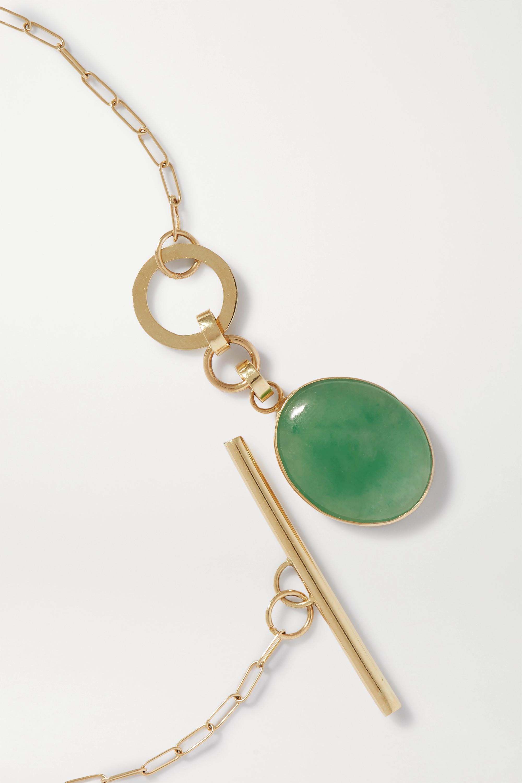 Loren Stewart + NET SUSTAIN 14-karat gold jade necklace