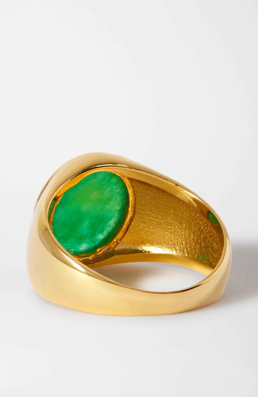 Loren Stewart + NET SUSTAIN gold vermeil jade ring