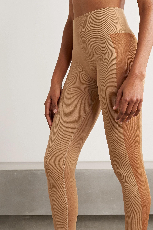 Reebok X Victoria Beckham Ribbed stretch leggings