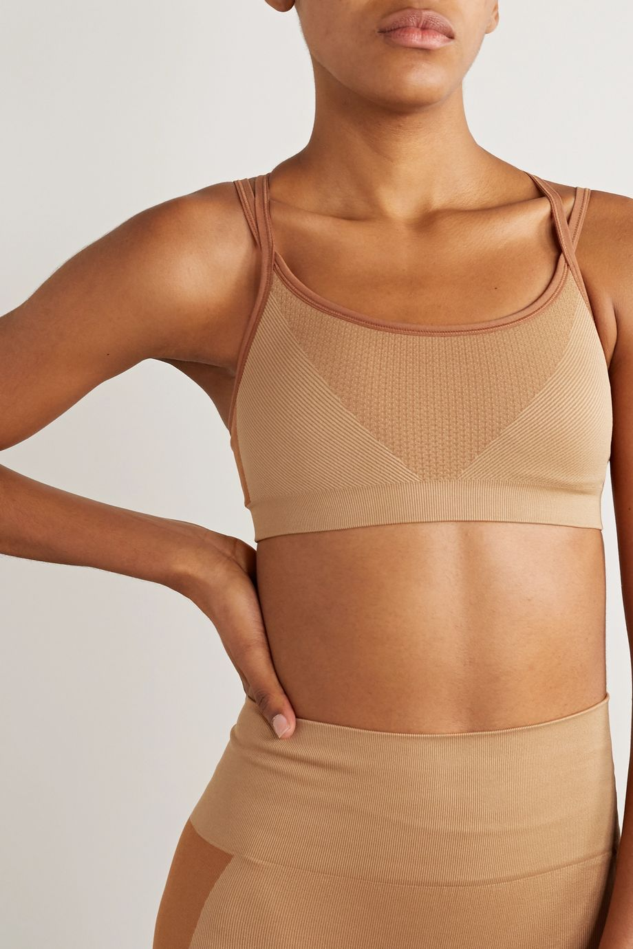 Reebok X Victoria Beckham Ribbed stretch sports bra
