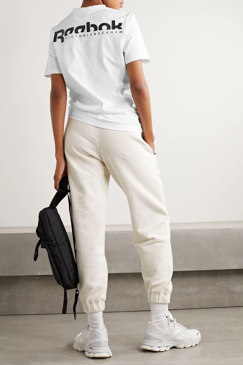 Reebok X Victoria Beckham Printed cotton-jersey T-shirt