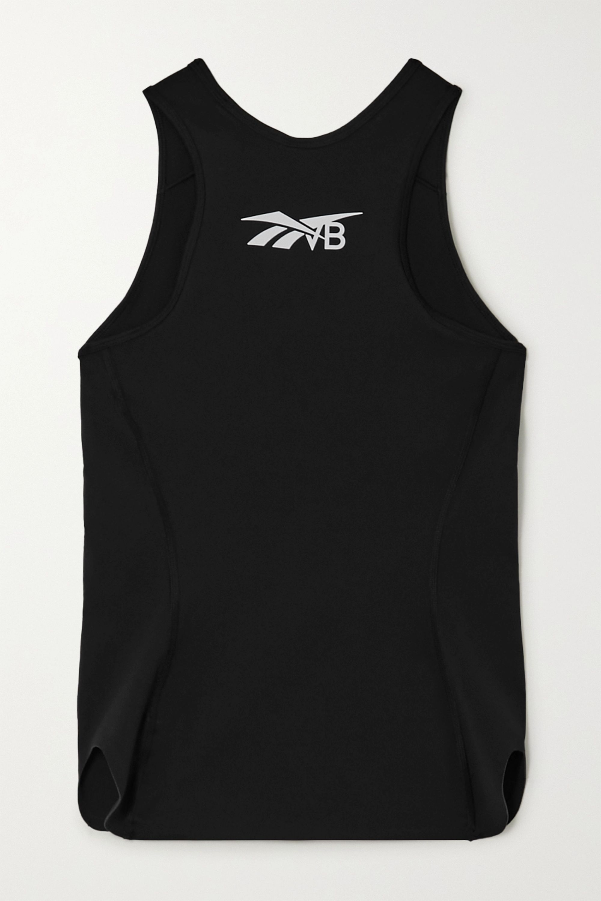 Reebok X Victoria Beckham Printed stretch-jersey tank