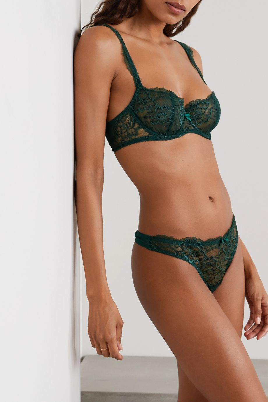 Journelle Isabel lace and tulle thong