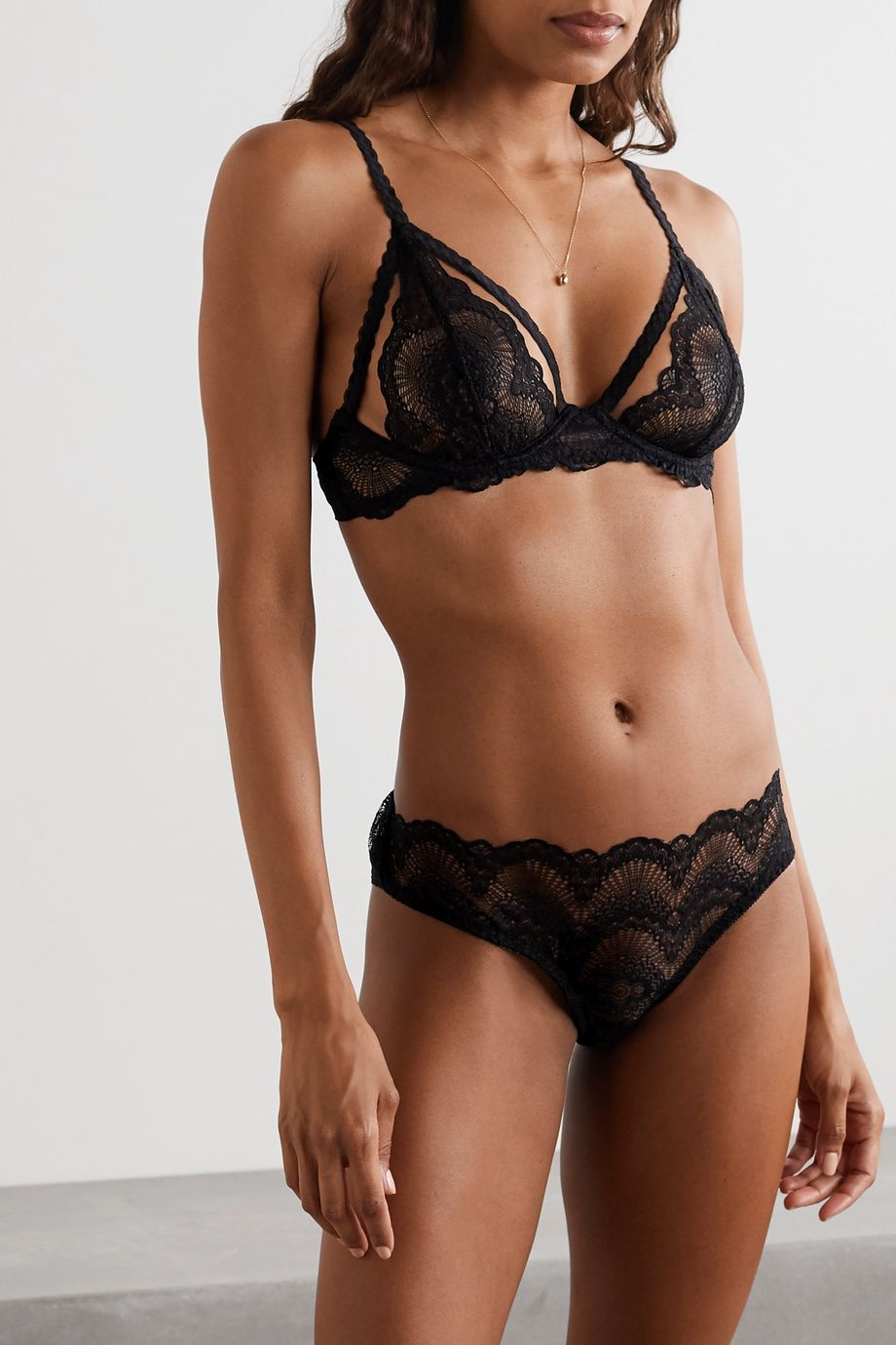 Journelle Natalia stretch-lace underwired soft-cup bra
