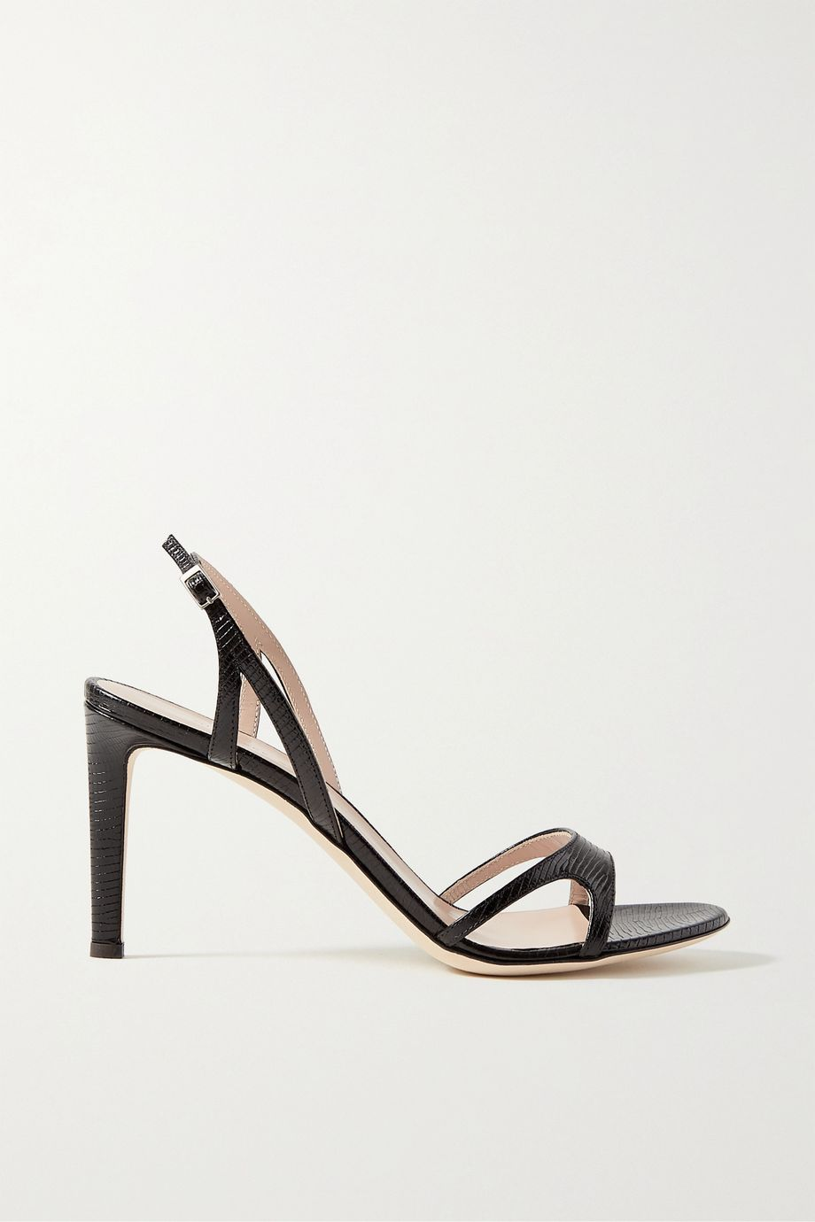 Giuseppe Zanotti Lizard-effect leather slingback sandals