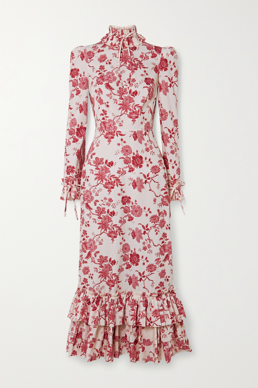 The Vampire's Wife Liberty ruffled floral-print cotton-poplin midi dress