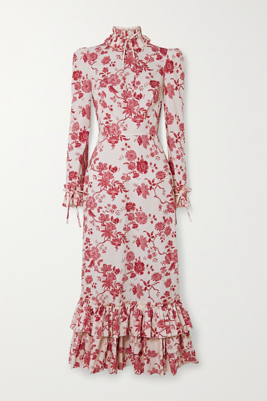 The Vampire's Wife Liberty ruffled floral-print cotton-poplin midi dress