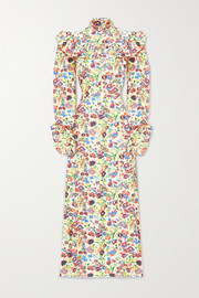 The Vampire's Wife Firefly ruffled floral-print cotton-poplin maxi dress