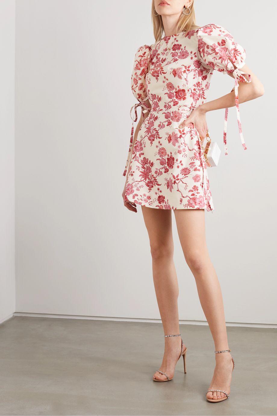 The Vampire's Wife The Wrapsody floral-print cotton-poplin wrap mini dress