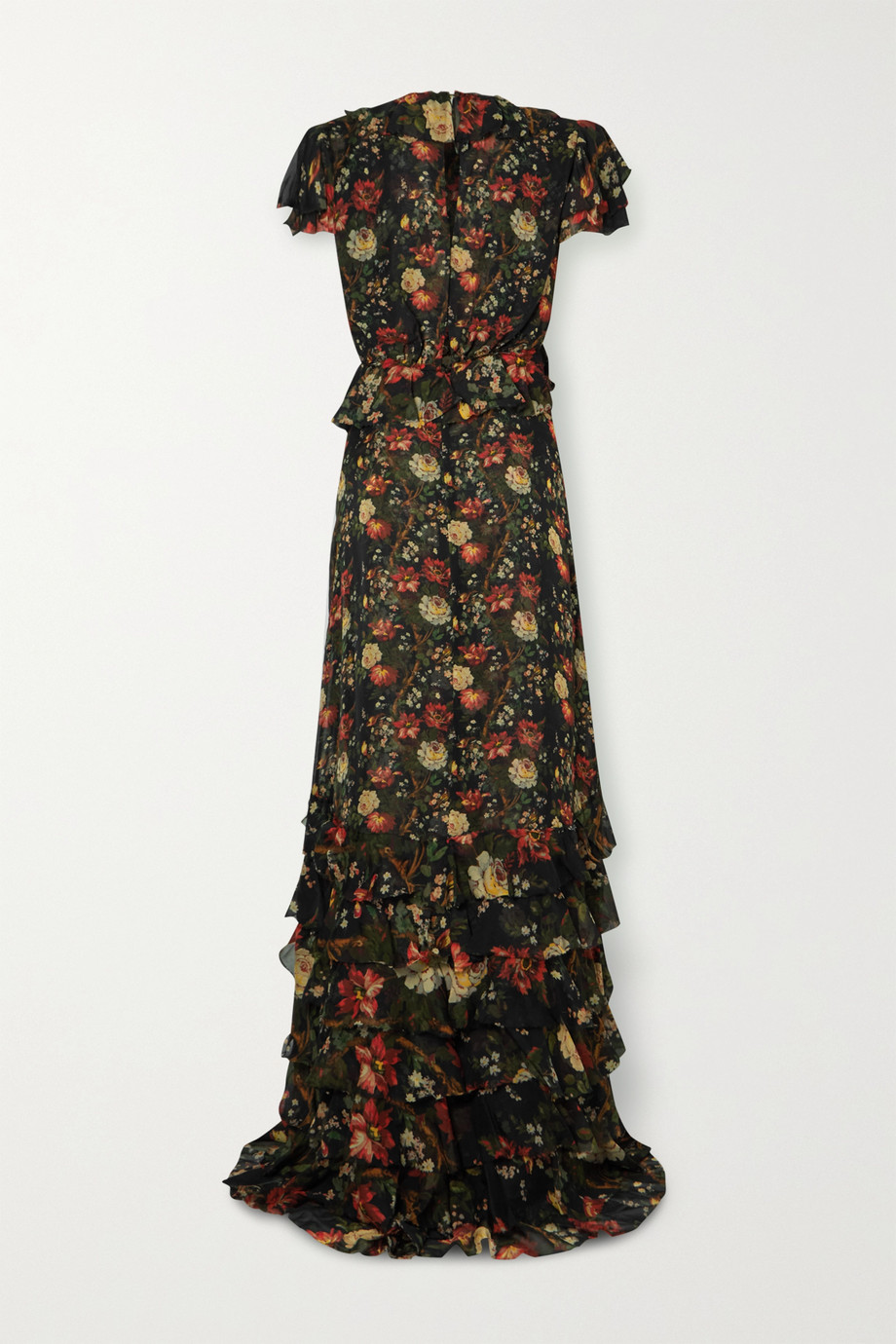 The Vampire's Wife Lady Kristina ruffled floral-print silk-chiffon maxi dress