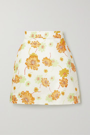 Frill Seeker floral-print cotton mini skirt