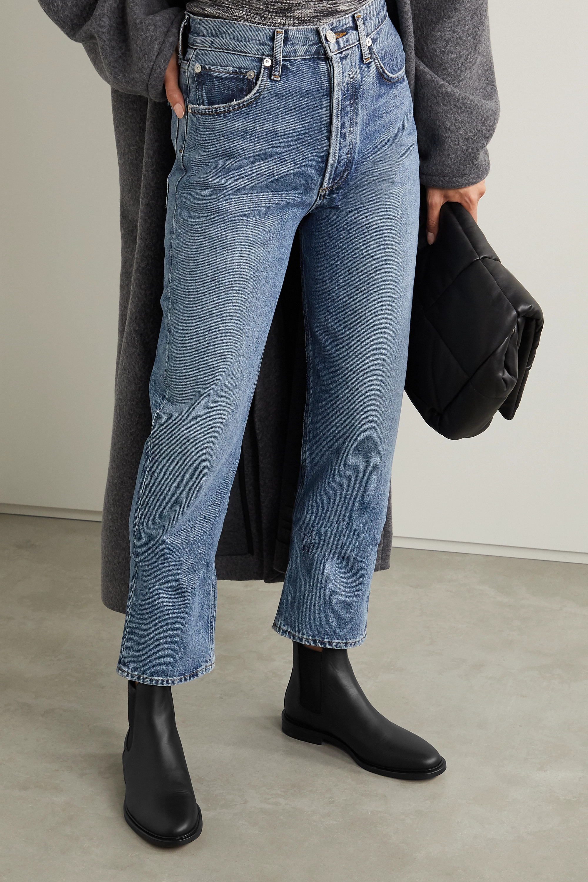 Black Leather Chelsea boots | Common