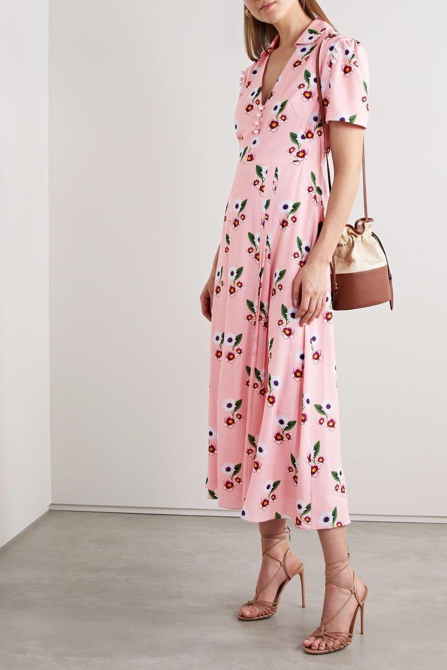 Borgo de Nor Adelaide floral-print crepe midi dress