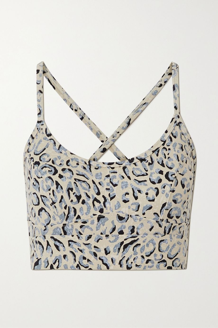 Varley Irena leopard-print stretch sports bra