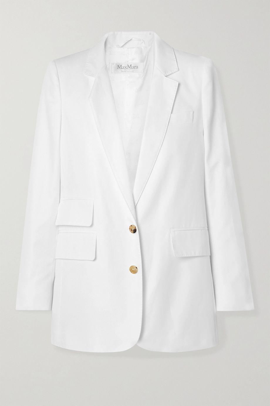 Max Mara Ronchi cotton-twill blazer