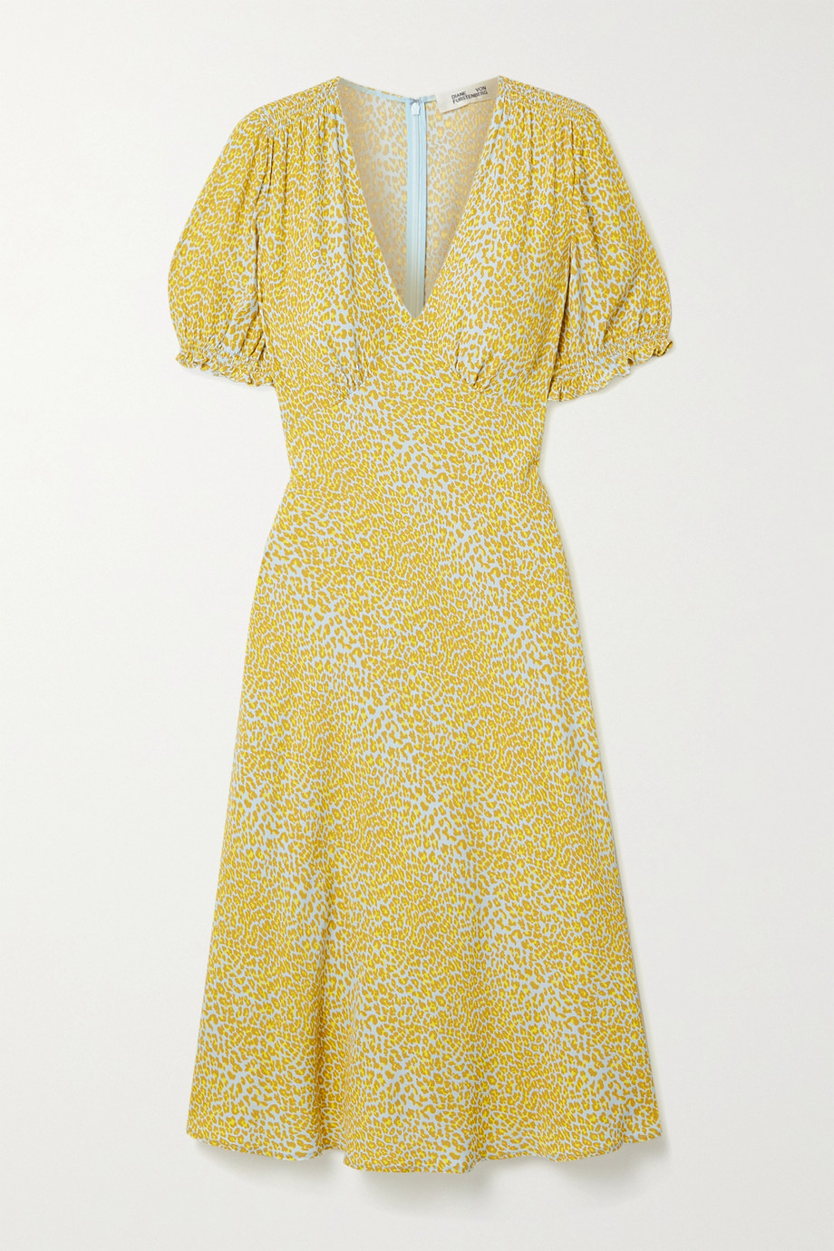 Diane von Furstenberg Idris leopard-print crepe midi dress
