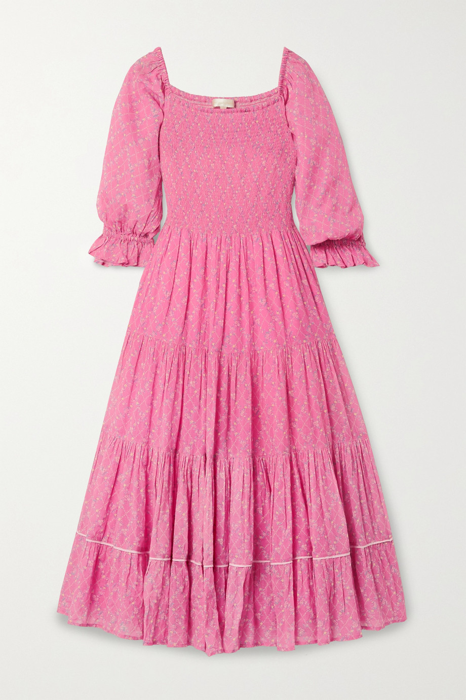 Loveshackfancy Rigby dress pink.