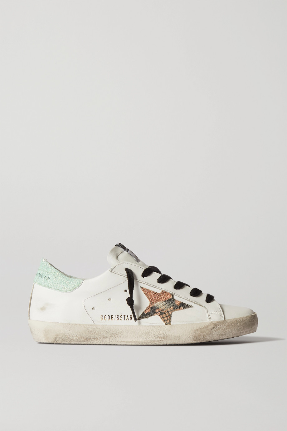Golden Goose Superstar Sneakers aus Leder mit Glitter-Finish in Distressed-Optik