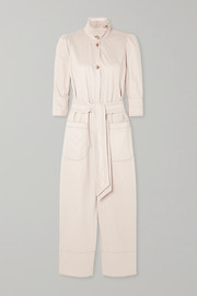 Romy belted cotton jumpsuit