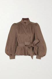 Stella cotton-twill wrap jacket