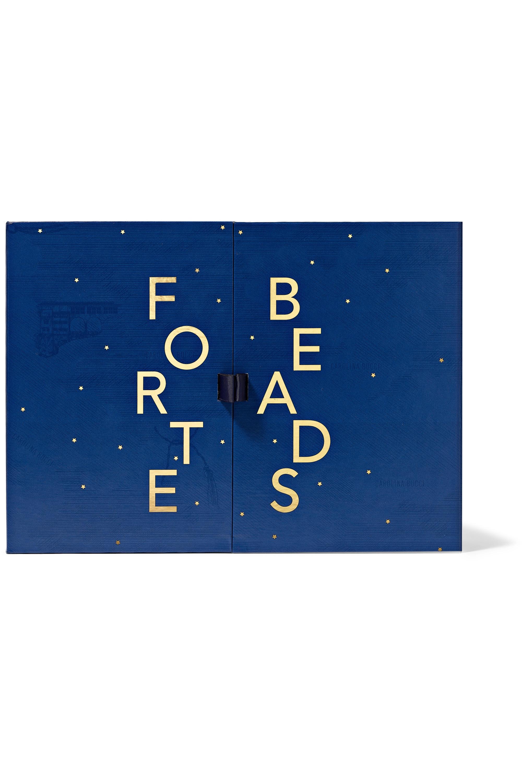 Carolina Bucci Forte Beads Adventskalender mit Armband mit Details aus 18 Karat Gold und mehreren Steinen
