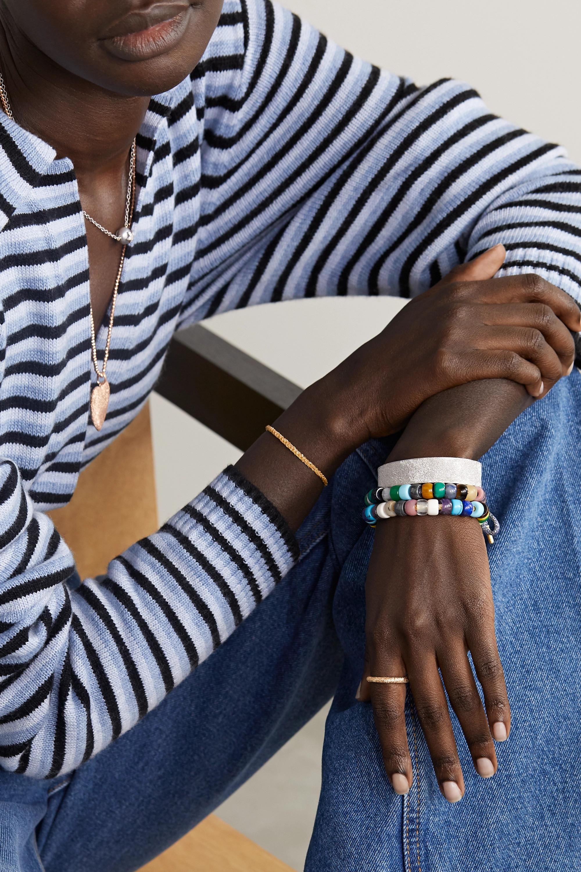 Carolina Bucci FORTE Beads Set aus einem Armband aus Lurex® mit Details aus 18 Karat Gold und mehreren Steinen