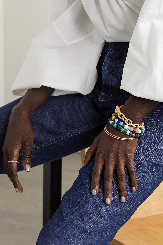 Carolina Bucci Kit bracelet en or 18 carats, Lurex et pierres multiples FORTE