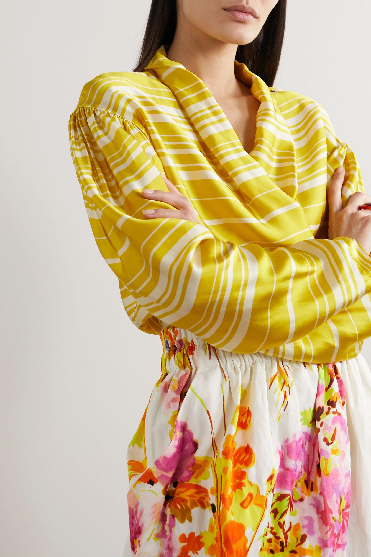 Dries Van Noten Striped satin blouse