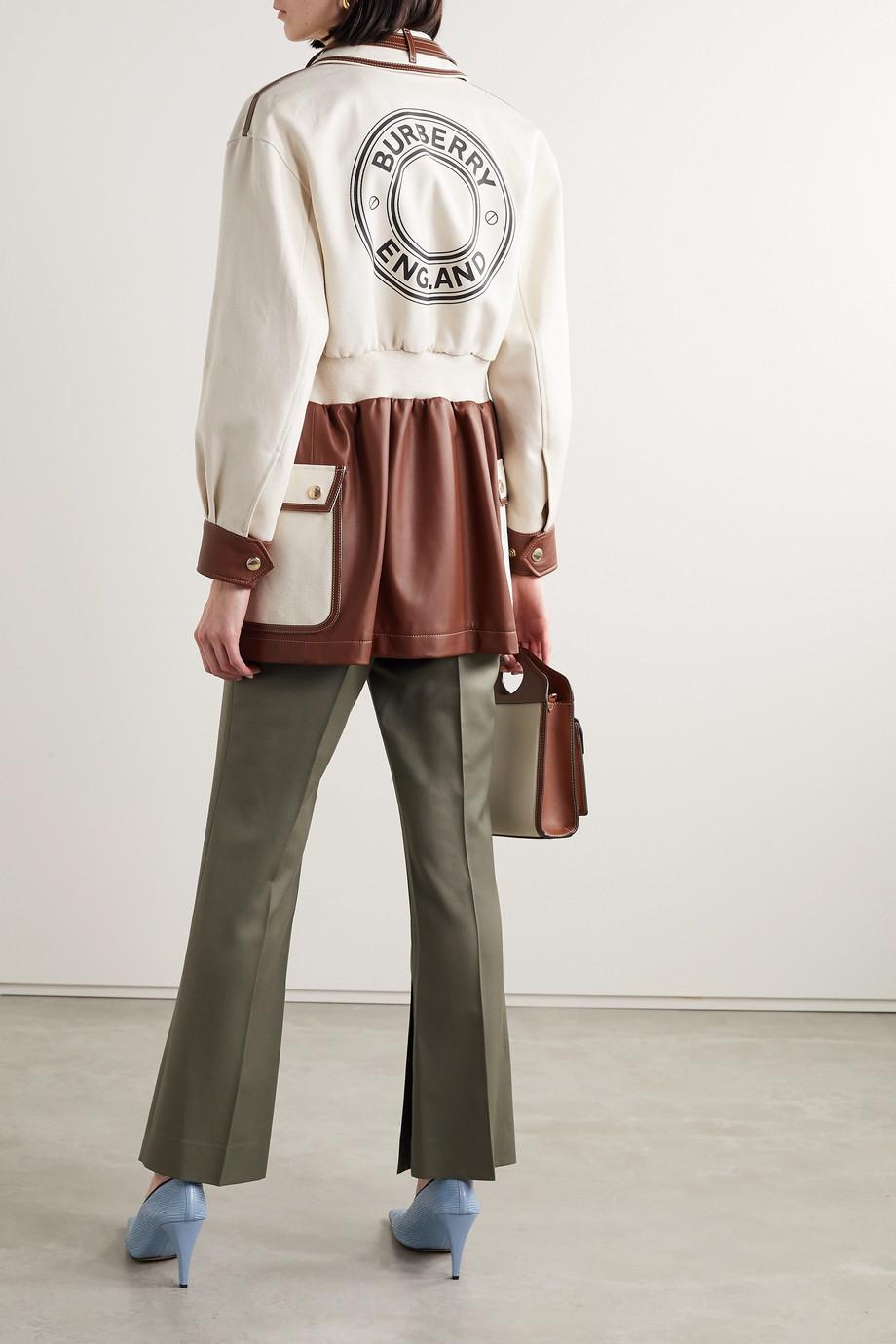 Burberry 印花纯棉帆布皮革外套
