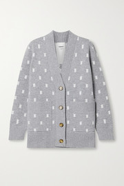 Burberry Jacquard-knit cardigan