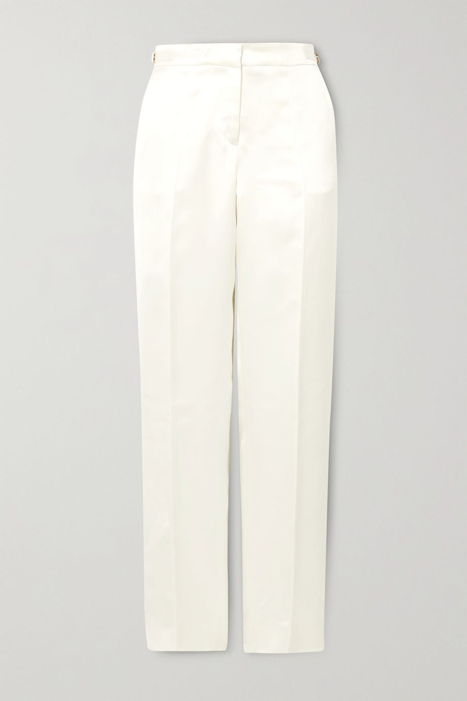 Gabriela Hearst Pantalon droit en satin de soie Francisco