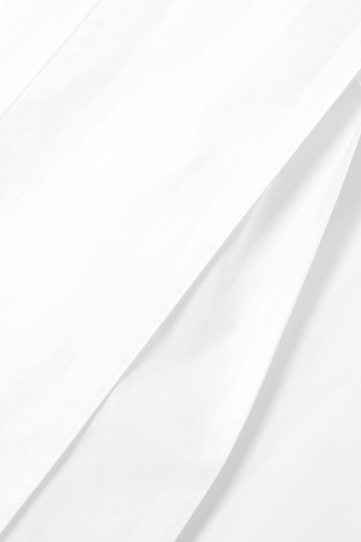 Gabriela Hearst + NET SUSTAIN schulterfreies Midikleid aus Biobaumwollpopeline mit Bindegürtel