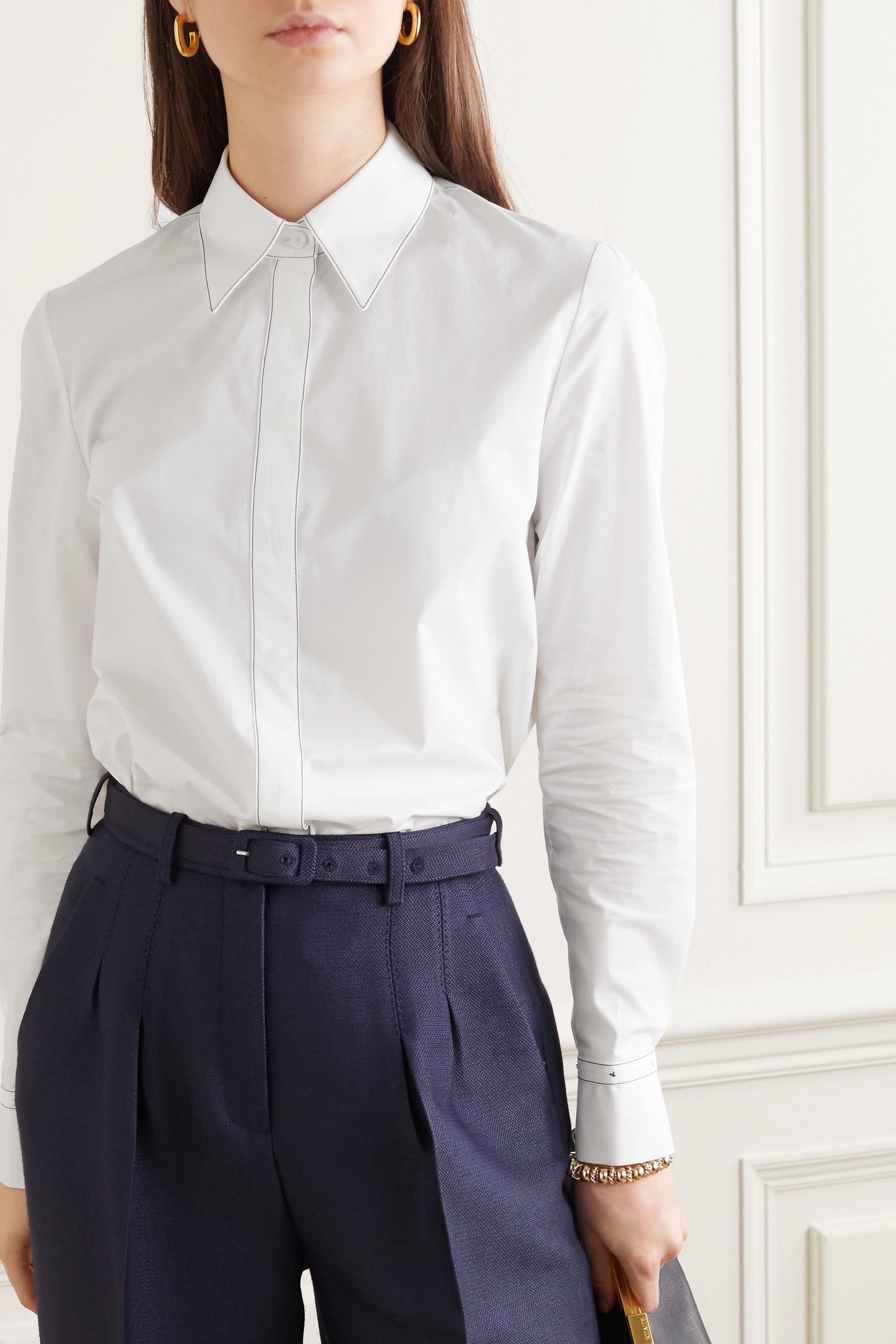 Gabriela Hearst + NET SUSTAIN Cruz cotton-poplin shirt