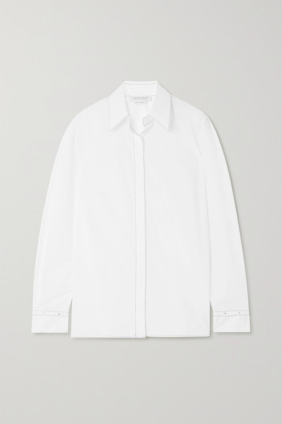 Gabriela Hearst + NET SUSTAIN Cruz Hemd aus Baumwollpopeline